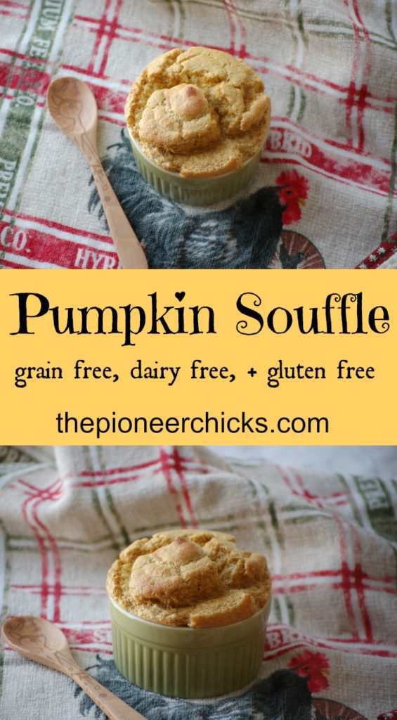 Pumpkin Souffle- This light and delicous dessert is the perfect fall food! It includes pumpkin and eggs and is dairy free, gluten free, and grain-free!