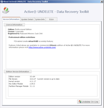 Active@ UNDELETE PRO patch download