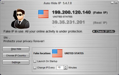 Auto Hide IP activation loader