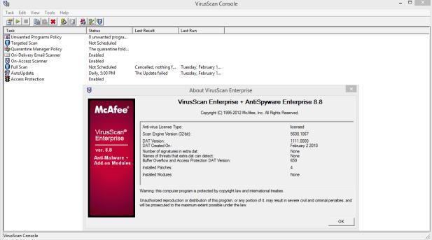 McAfee VirusScan pre - activtaed torrent