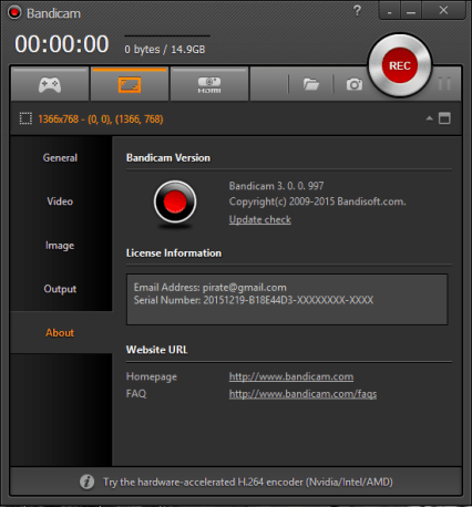 Bandicam registered version download for free