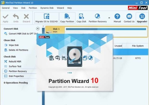 MiniTool Partition Wizard 10 license code