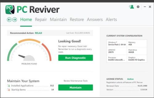 PC Reviver license code