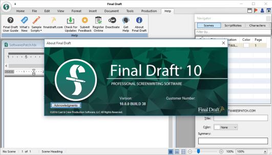 Final Draft license code
