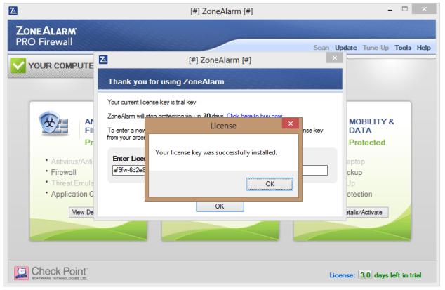 ZoneAlarm firewall crack