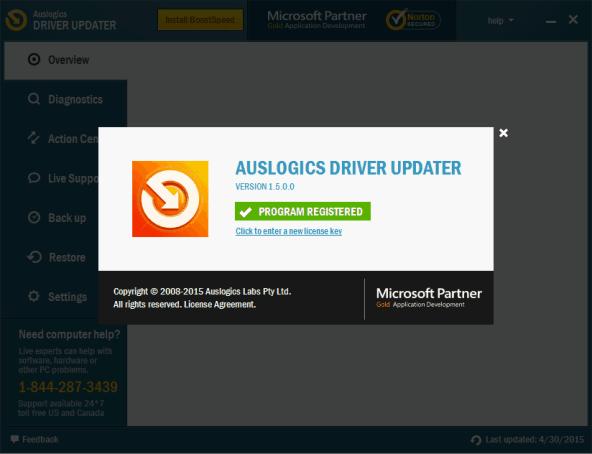 Auslogics Driver Updater 1.5 Pre - activated Version