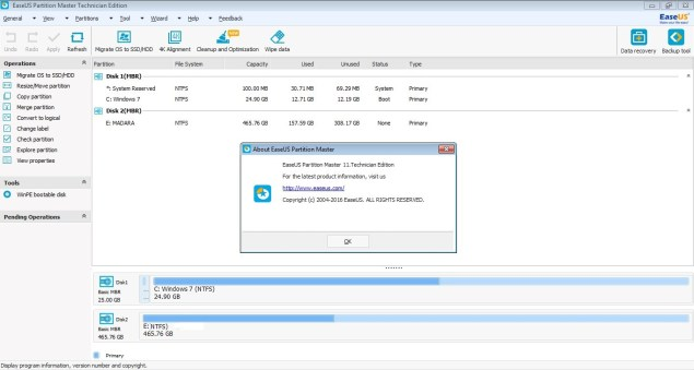 EaseUS Partition Master 11 All Editions activator