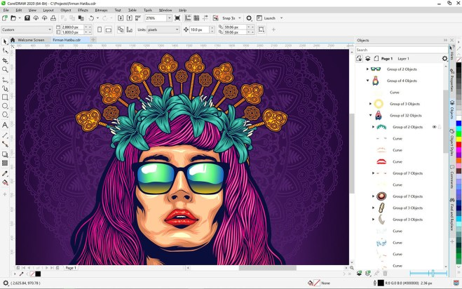 CorelDRAW Graphics 2020 free download for pc / windows
