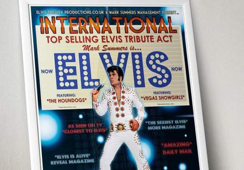 Elvis Tribute Poster Design For Mark Summers
