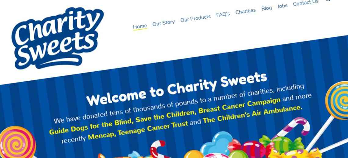 Website Design Walsall for Charity Sweets