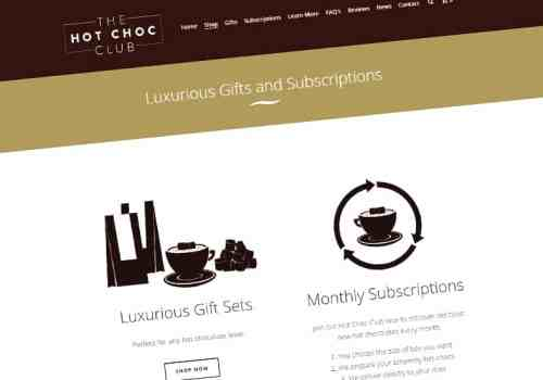 Website Design Hagley for Hot Choc Club