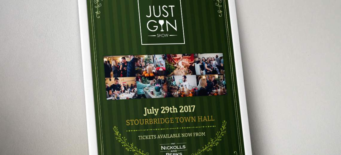Graphic Design Stourbridge for Just Gin Festival