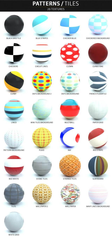 C4D-Otoy-Octane-Render-Material-Textures-Pack-Patterns-Tiles