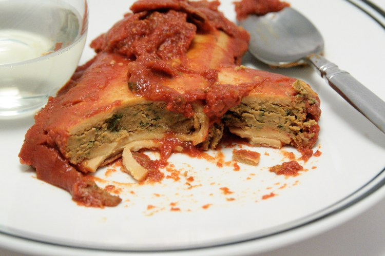 Vegetable Manicotti Interior