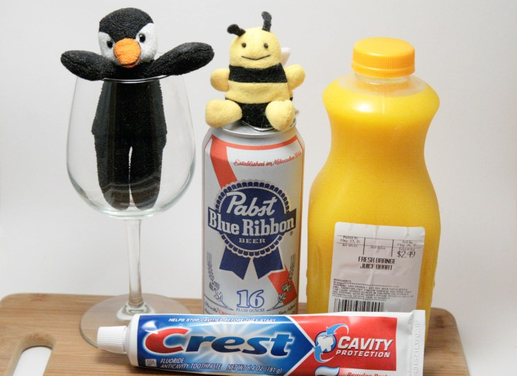 Toothpaste and Orange Juice Beermosa Ingredients
