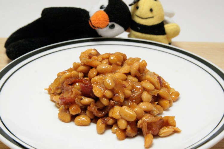Natto Baked Beans Finished Closeup