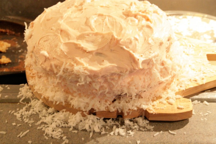 Hummingbird Cake Coconut Mess