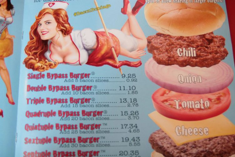 Heart Attack Menu Burgers