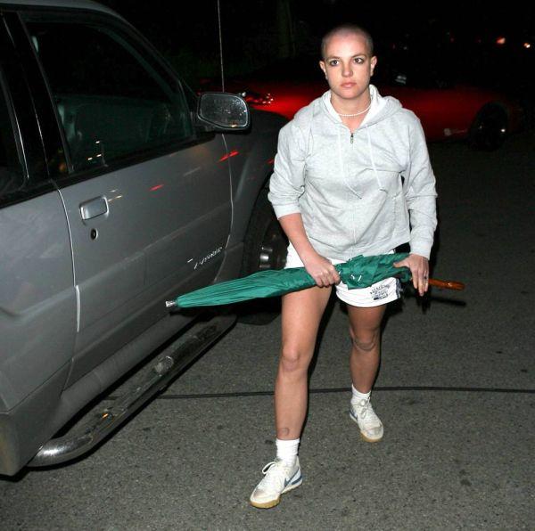 Britney Spears Shaved Head Umbrella