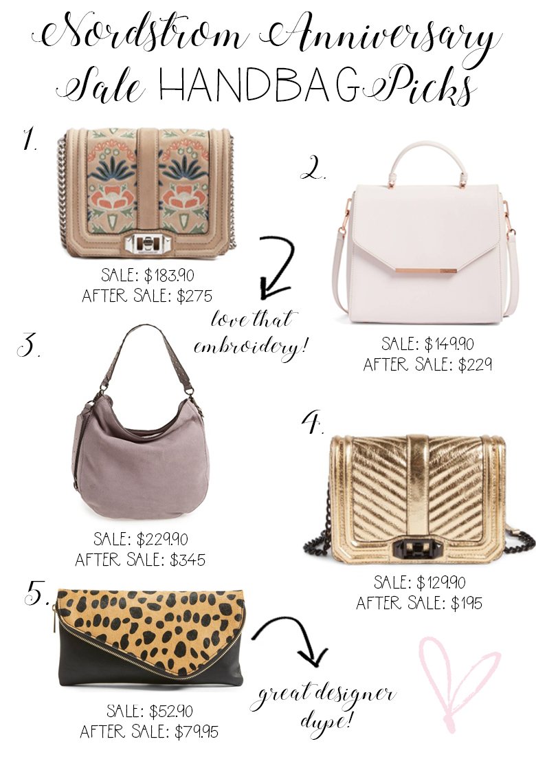 Savannah Jayne of The Plain Jayne shares her favorite handbag picks from the 2017 Nordstrom Anniversary Sale.