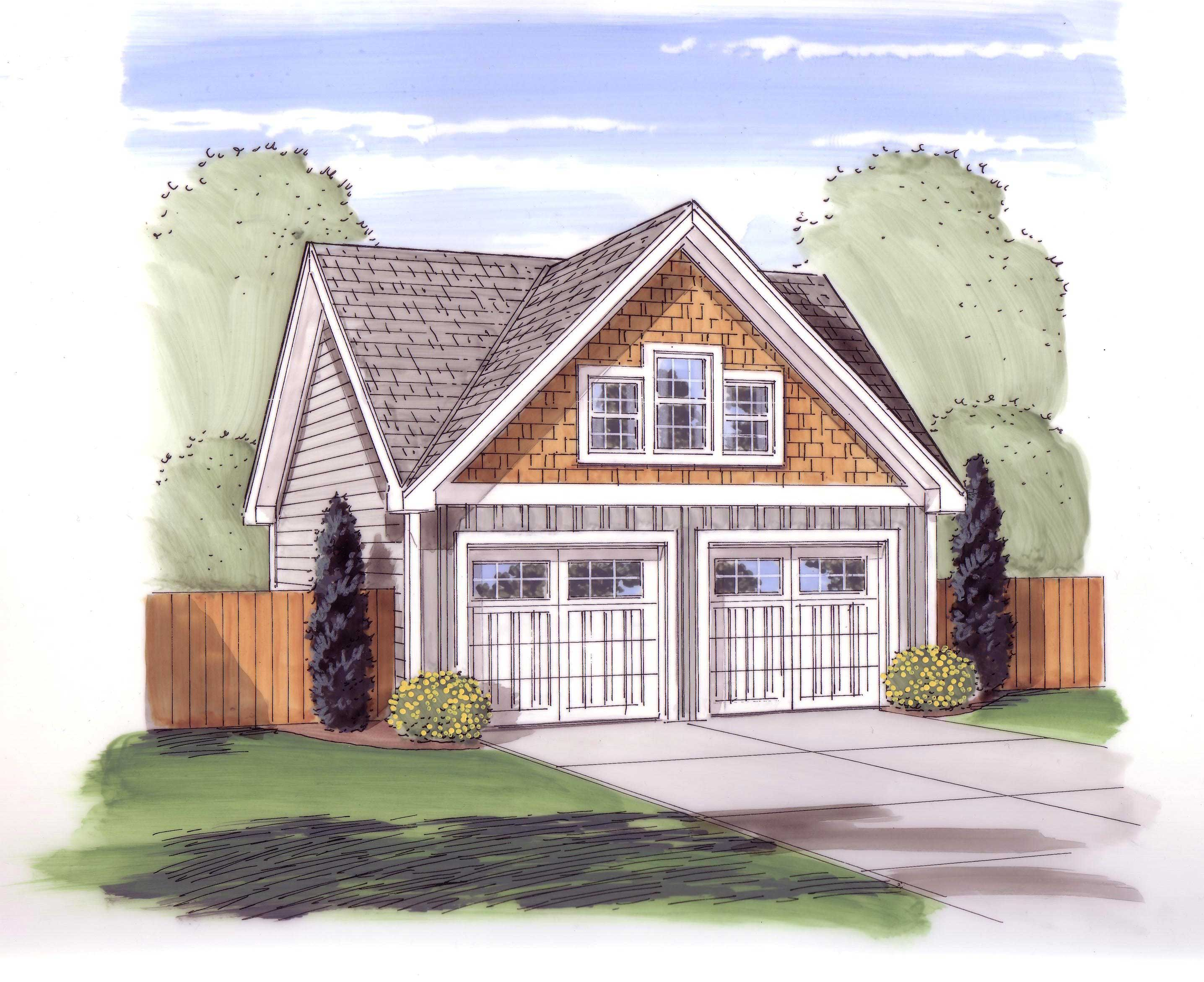 Garage Style Garage with 3 Car 0 Bedroom 576 Sq Ft