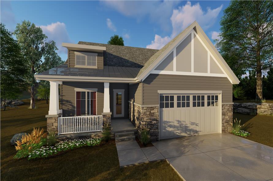 2 Bedroom Craftsman House Plan 1001205 1440 Sq Ft Home