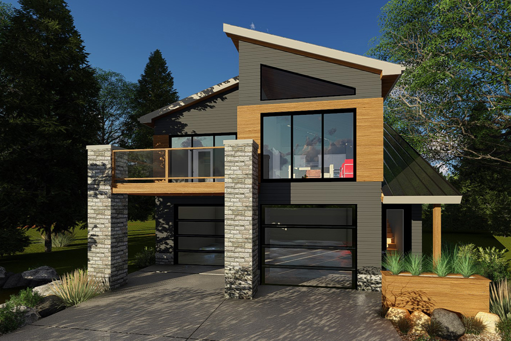 Garage wApartments with 2Car 1 Bedrm 758 Sq Ft  Plan 1001355