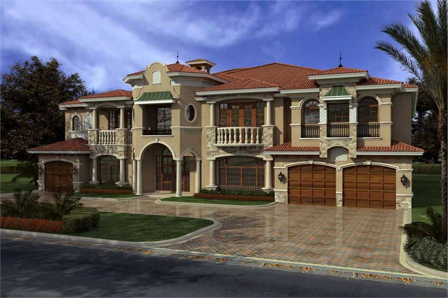 Luxury Home with 7 Bdrms 7883 Sq Ft  House Plan 1071031