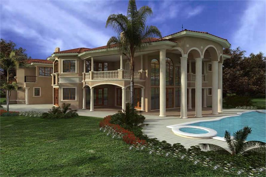 California Style Home with 7 Bdrms 7502 Sq Ft  House Plan 1071075