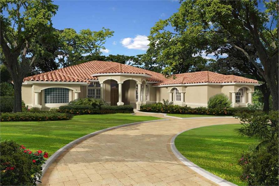 Florida Style Home with 5 Bdrms 5565 Sq Ft  Floor Plan