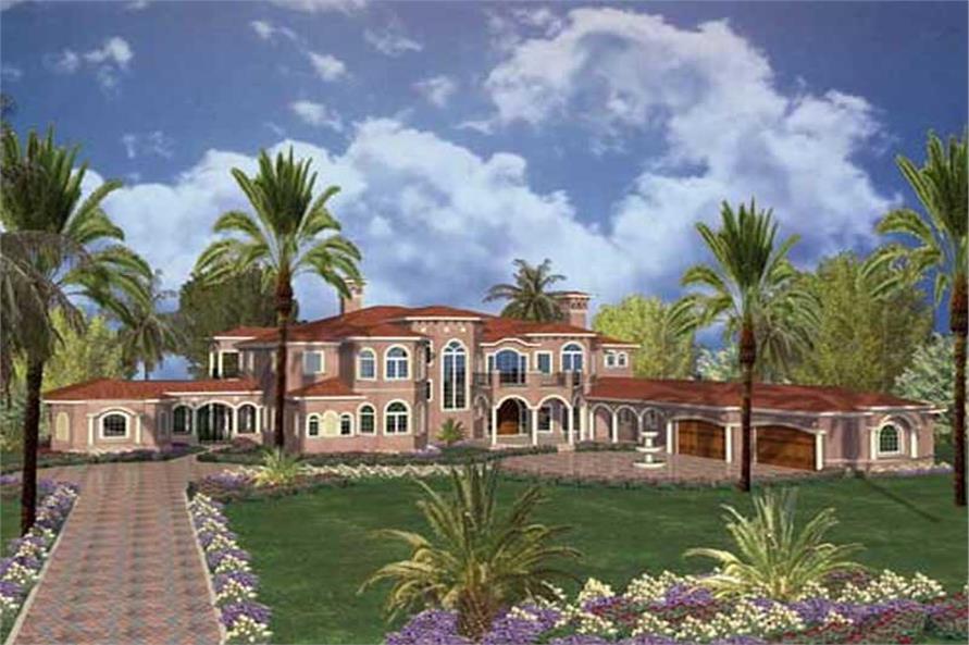 House Plan 1071189  7 Bedroom 10433 Sq Ft Luxury  Mediterranean Home  TPC  AA110270110