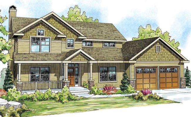 Country Craftsman Home With 4 Bedrms 2893 Sq Ft Plan