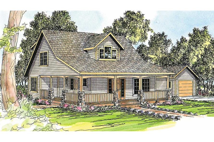 Country  Craftsman Home with 5 Bedrms 2288 Sq Ft  Plan