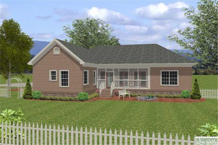 Craftsman Home with 4 Bedrms 1800 Sq Ft  Floor Plan 109