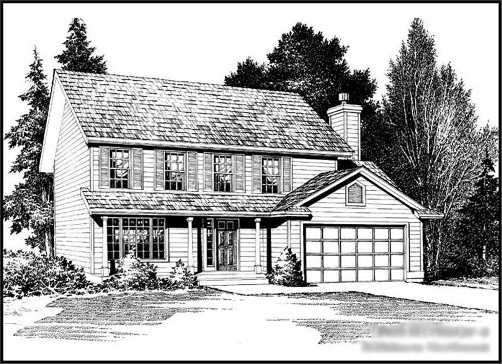 Traditional Colonial House Plans Home Design CD M1750A2F 0 14621
