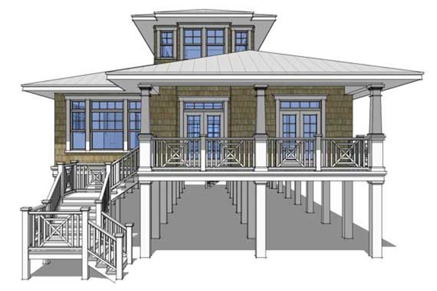 Beachfront House Plans  Home Design 0068