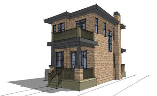 3 Bedrm 1586 Sq Ft Modern Craftsman House Plan 116 1016