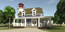 Lighthouse Beach House Plans for Homes