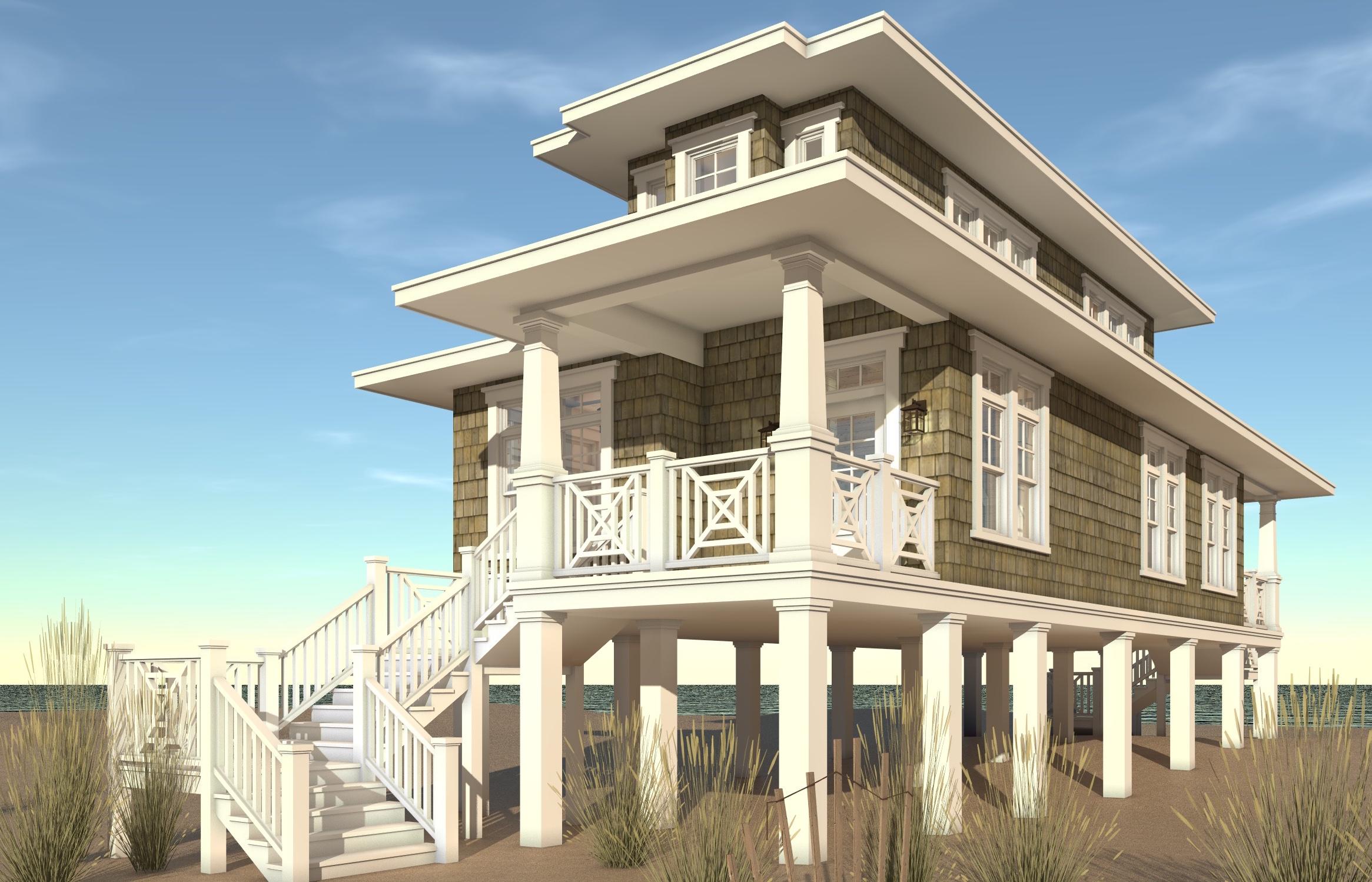 Beachfront House Plan  2 Bedrms 2 Baths  1283 Sq Ft  1161089