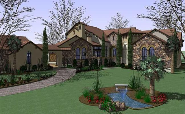 Luxury House Plans Home Design 20870