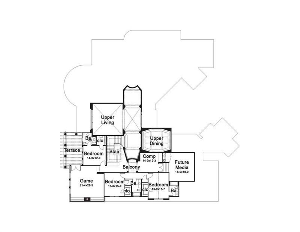 Large images for House Plan 117-1053