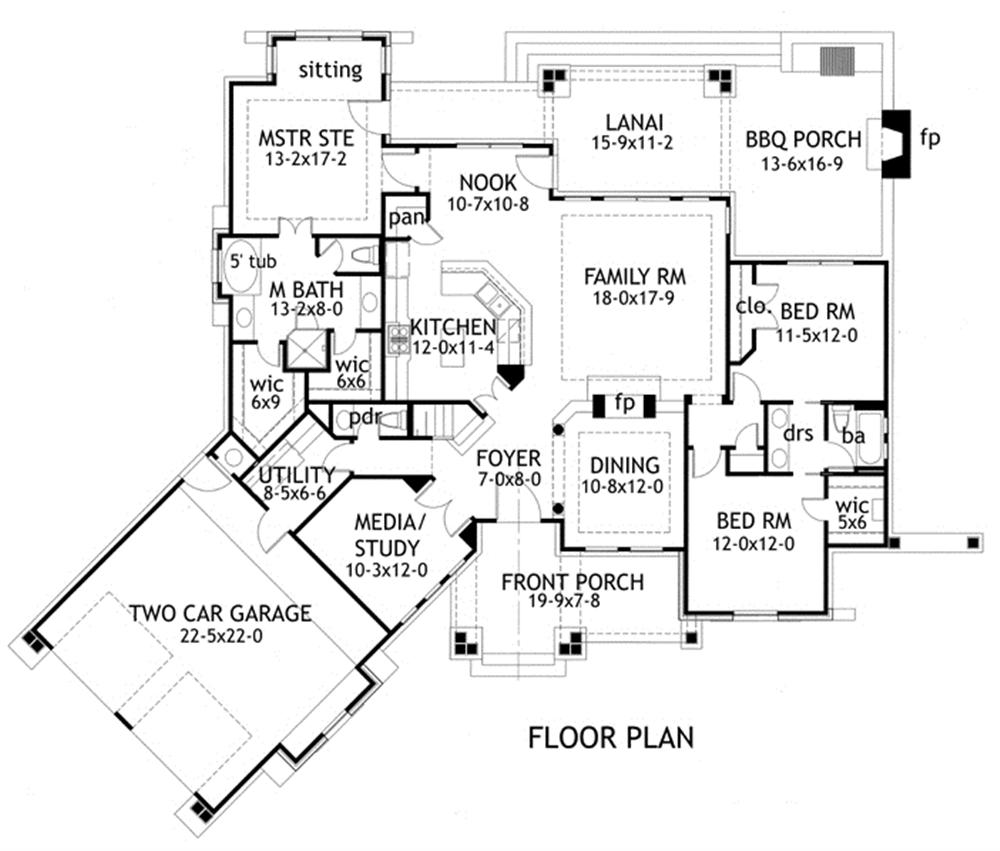 Large images for House Plan 117-1092