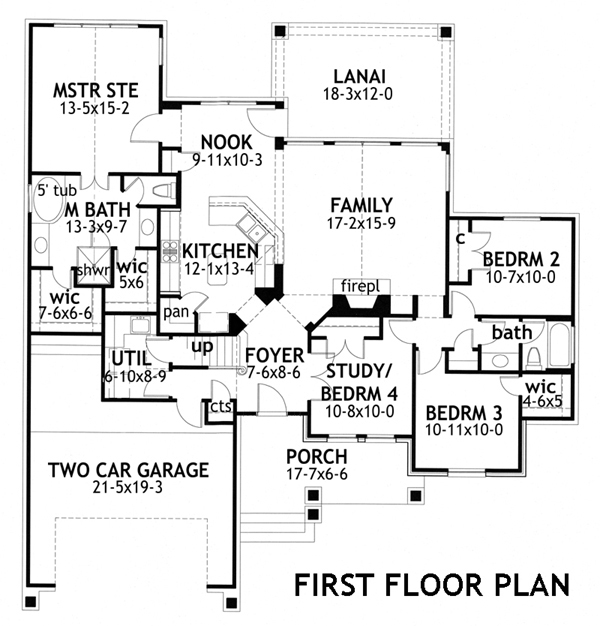 Cottage House Plan #117-1116: 4 Bedrm, 1764 Sq Ft Home