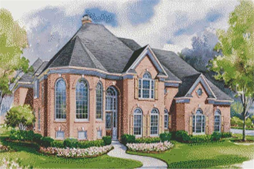 House Plan #120 1948 4 Bedroom 4428 Sq Ft Luxury European