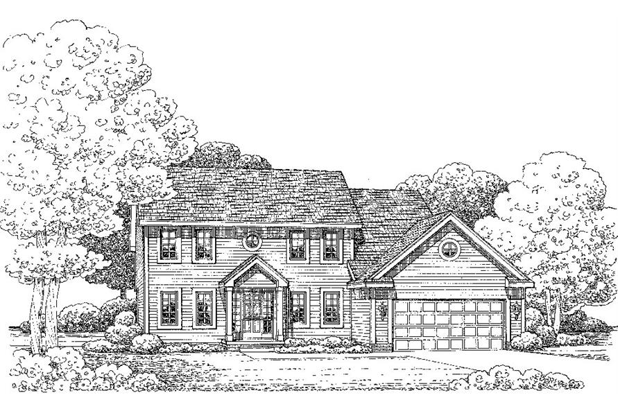 House Plan #120-2244: 4 Bdrm, 2,151 Sq Ft Colonial Home