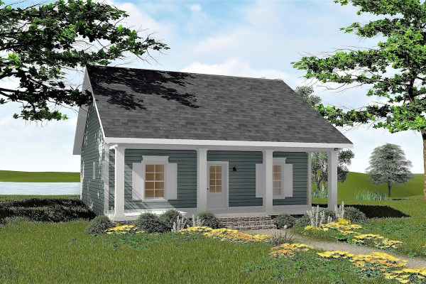 2 Bedrm 992 Sq Ft Small House Plans Plan #123-1042