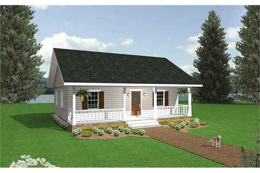 Cabins House Plans Country Home Design DH864 G # 2207