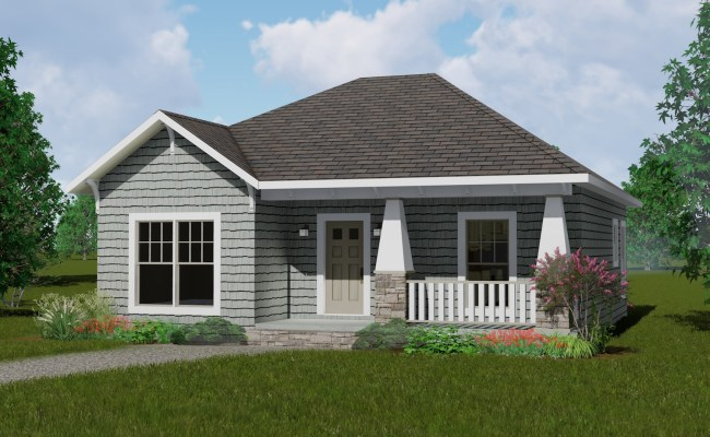 2 Bedrm 1073 Sq Ft Country House Plan 123 1083