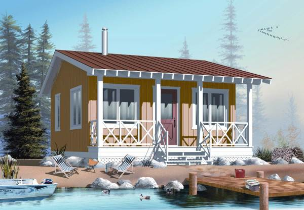 Small House Plan Tiny Home - 1 Bedrm Bath 400 Sq Ft