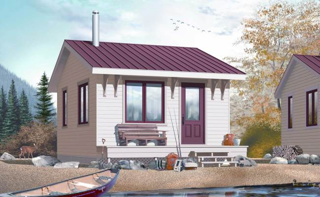 Small Vacation Home 1 Bedroom 1 Bath Plan 126 1036
